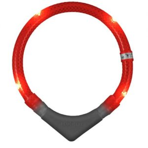 Leutchie red light up collar