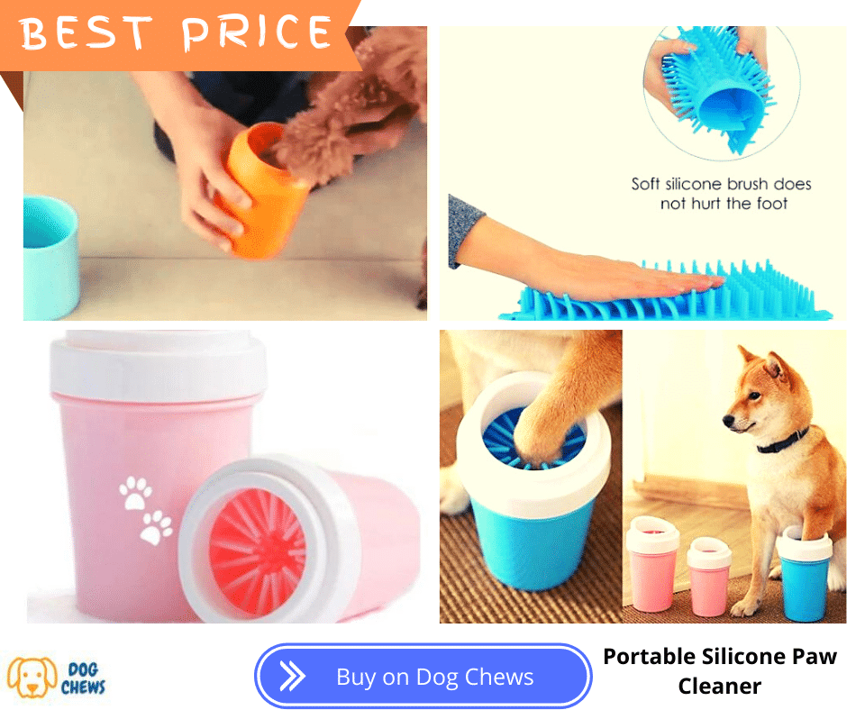 Portable Silicone Paw Cleaner, cleaning a dogs paw