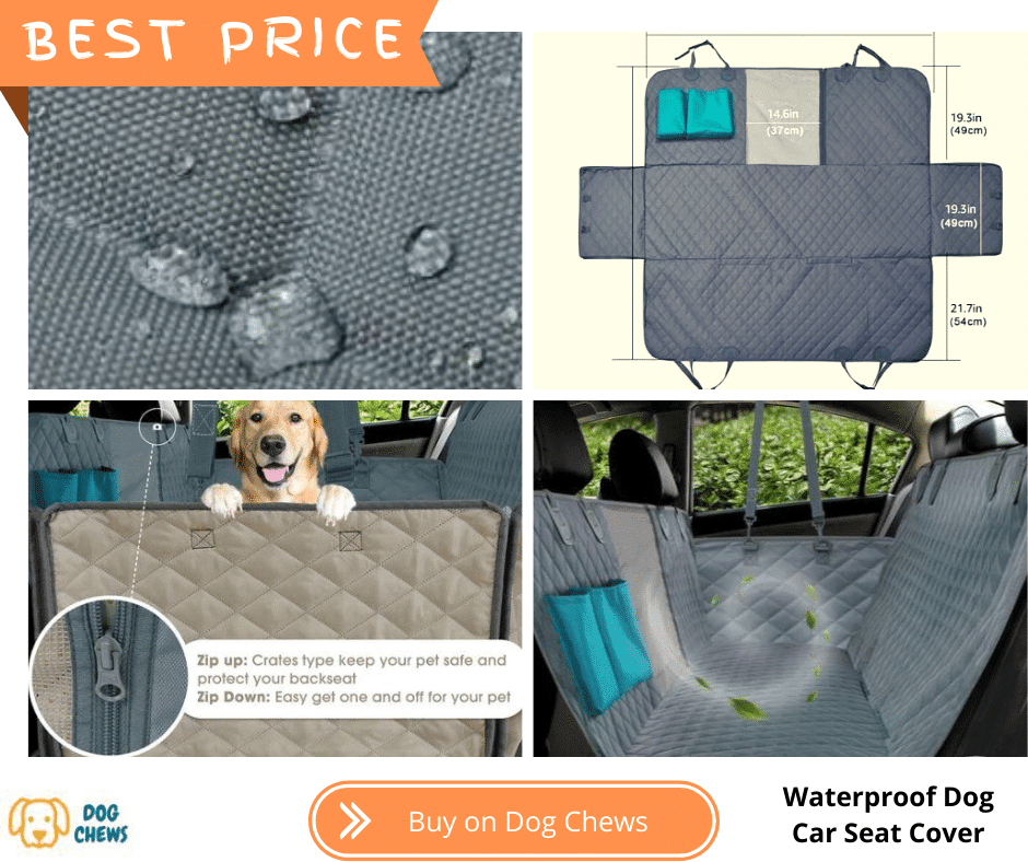Waterproof Dog Car Seat Cover with dog in car safe