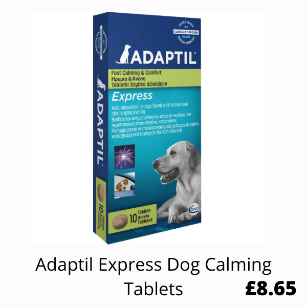 box of Dog Calming Tablets
