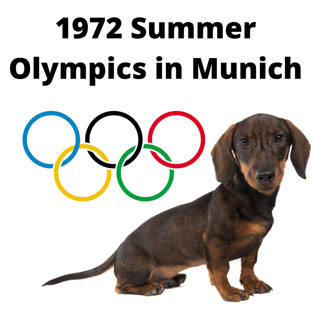 Dachshund Dog and Olympics Logo