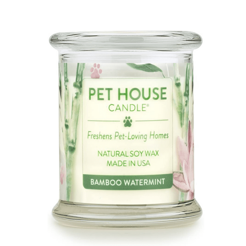 A candle in a jar by Pet House Candles