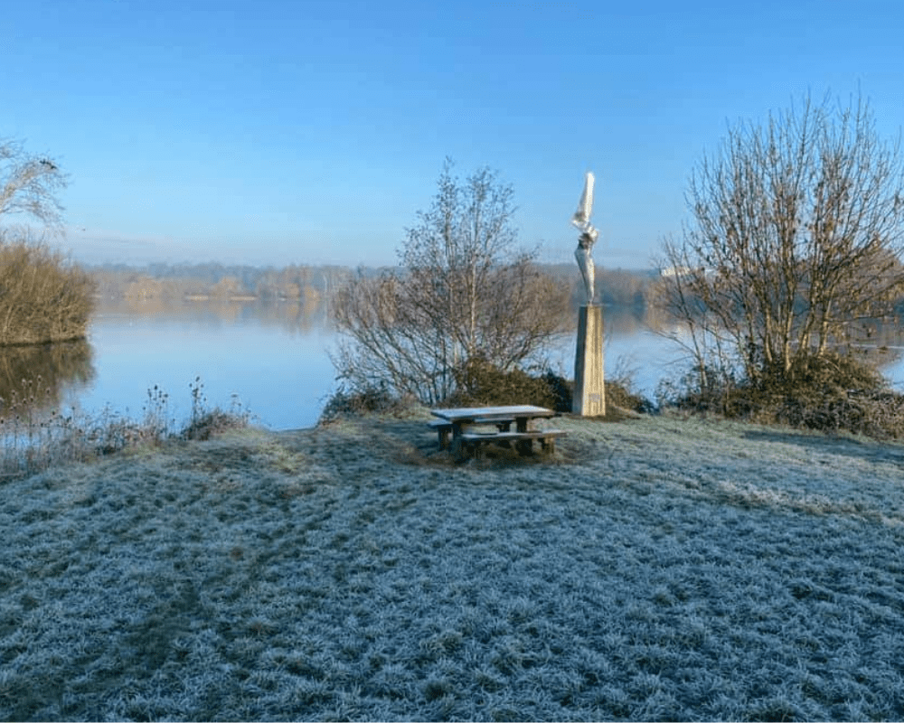 Ferry Meadows Peterborough on a cold morning