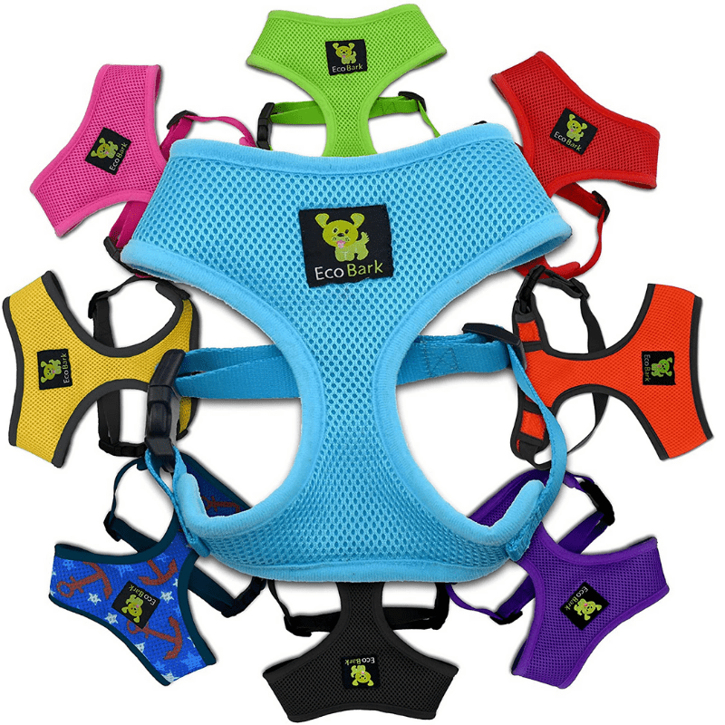pomeranian harnesses, several in different colours