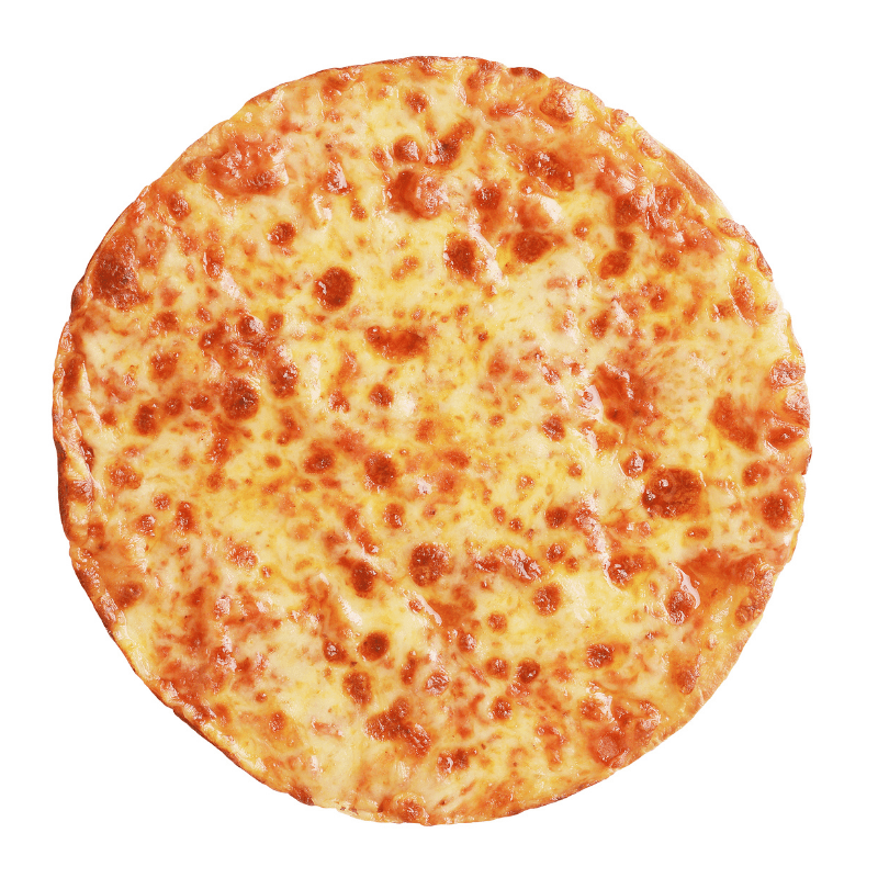 Cheese Pizza on a white background
